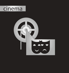 Black and white style icon film mask vector