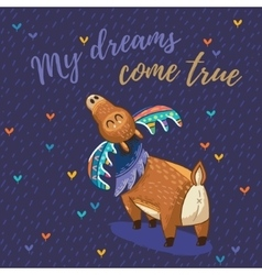 Card with awesome elk vector