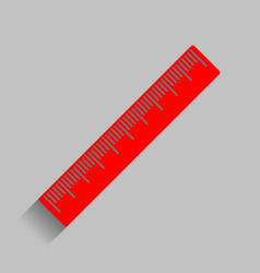 Centimeter ruler sign red icon with soft vector