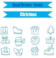 Collectio stock christmas icon vector