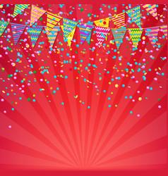 Color birthday banner vector