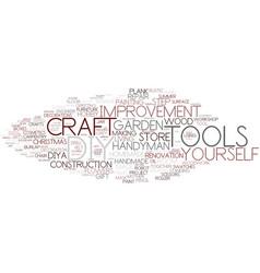 Diy word cloud concept vector