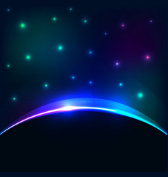 eclipse cosmic sky background Glowing vector image vector image
