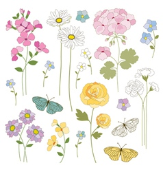 floral mix vector image vector image