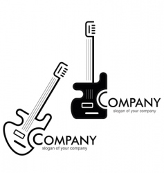 guitar logotype vector image