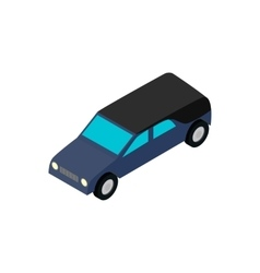 Hearse isometric 3d icon vector