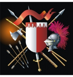 Heraldic background vector