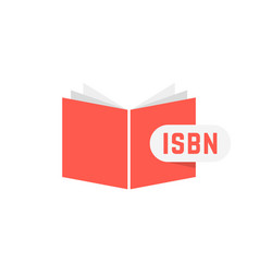 Isbn sign with red book vector