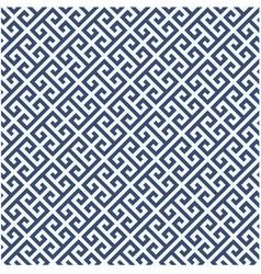 Meander diagonal pattern - greek ornament backgrou vector