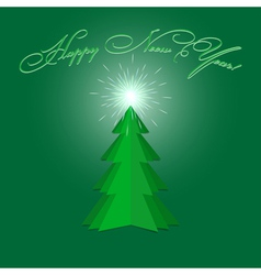 New Year Fur tree vector image