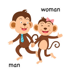 Opposite man and woman vector
