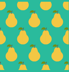 pear fruit seamless pattern vector image