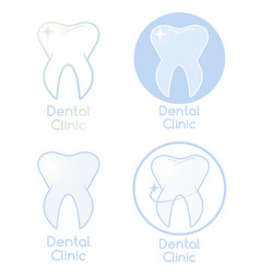 Set of dental clinic logotypes vector