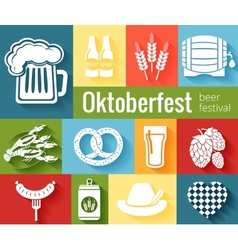 Set of Oktoberfest icons vector image