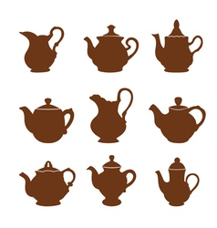 Set of teapot icons vector