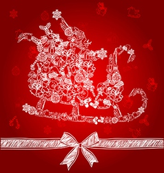 sleigh vector image vector image
