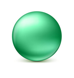 Sphere isolated on white vector