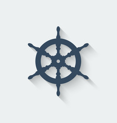 steering wheel design element vector image