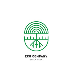 Tree holistic eco logo vector