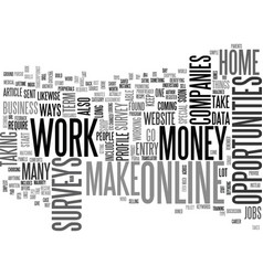 what are the ways to work at home and make money vector image