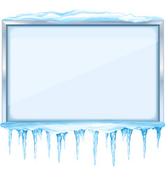 Winter Board with Icicles vector image vector image