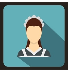 Maid icon in flat style vector