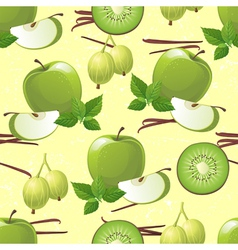 Green fruits seamless vector