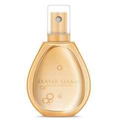 realistic parfume bottle vector image