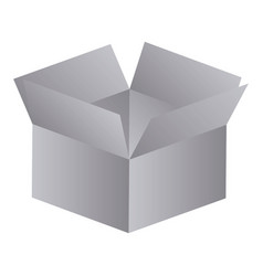 Gray box opened icon vector