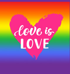 Love is love inspirational gay pride poster vector