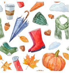 nice autumn pattern vector image