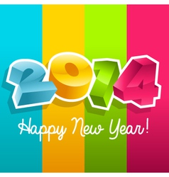 Colorful new year 2014 vector