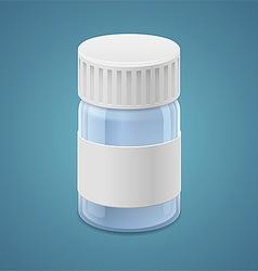 Jar for tablets vector image