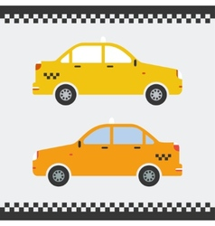 graphic yellow taxi car flat design vector image