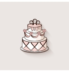 Wedding cake design element vector