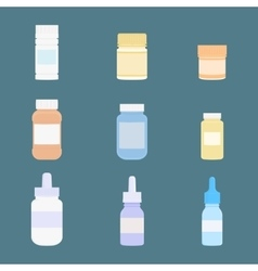 Set of meds icons medicine vector