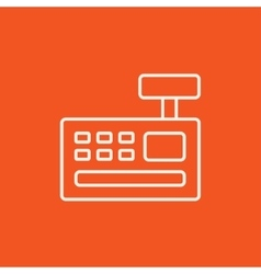 Cash register machine line icon vector