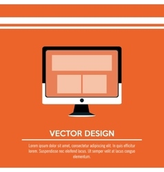 Technology icon design vector