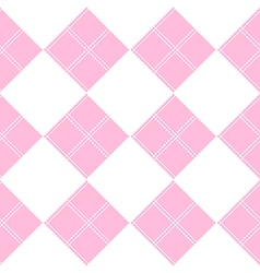 Diamond Chessboard Pink Background vector image