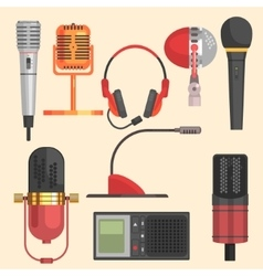 Microphone set vector