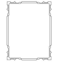 Simple black frame vertical vector