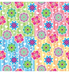 Patterns with flowers vector