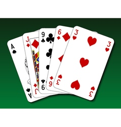Poker hand - high card vector