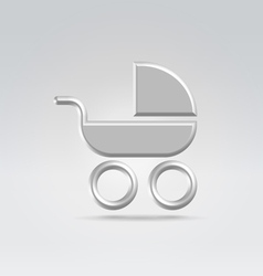 Baby pram carry cot icon vector