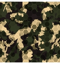 digital gexagonal camo seamless pattern vector image