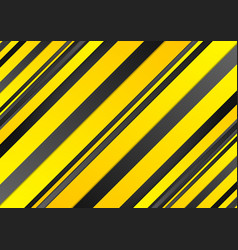 Abstract yellow and black stripes background vector