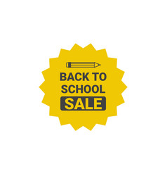 Back to school seasonal sale tag poster shopping vector