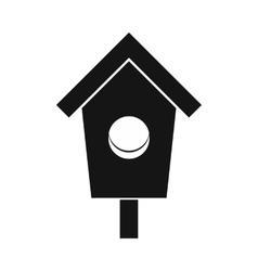 Birdhouse icon simple style vector
