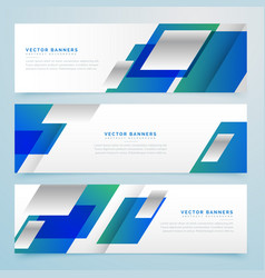 Business style geometric banners and headers in vector