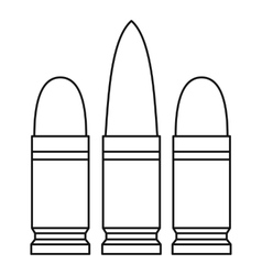 Cartridges icon outline style vector